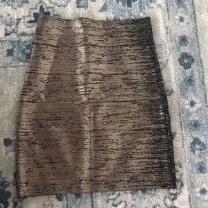 Bcbg metallic bandage skirt